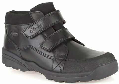 e7fabb163 Clarks DIGGY UP GTX Boys School Shoes Black Leather Boots Various Sizes