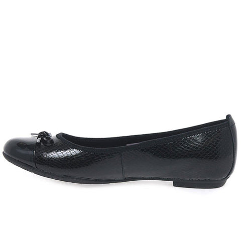 d5e9815ae00d Clarks BL TIZZ HOPE Girls School Shoes Black Leather Ballet Flats Various  Sizes