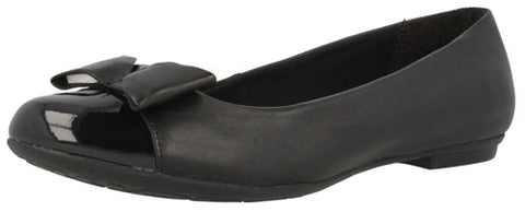 299c260c42de Clarks BL TIZZ RIDE Girls School Shoes Black Leather Ballet Flats Dress  Various Sizes