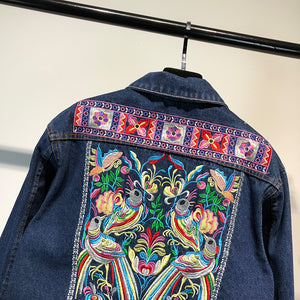Isla Embroidered denim jacket