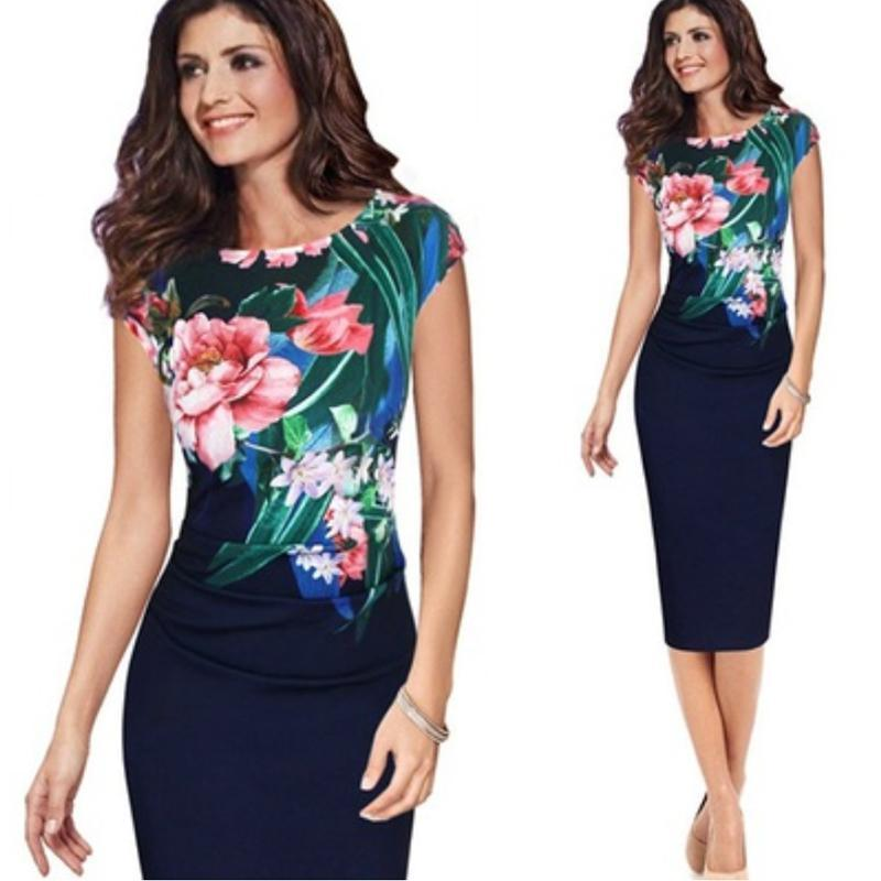 Office Lady Formal Midi Dress Luxion