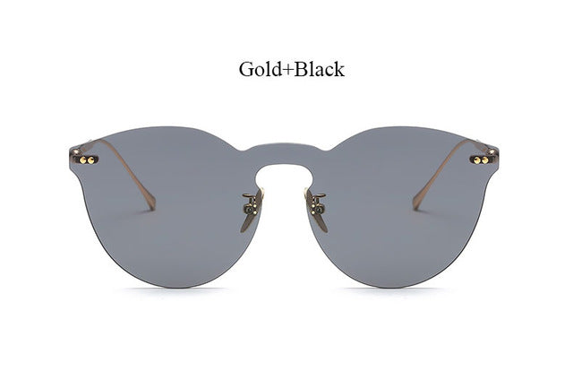 Rimless Mirror Cateye