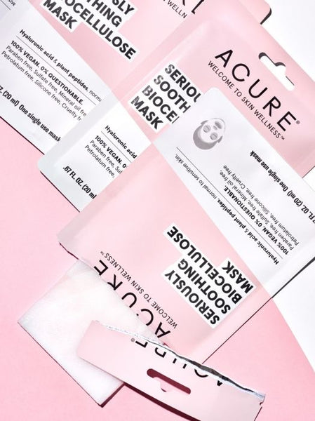 ACURE Masque en gel / Serously soothing biocellulose mask