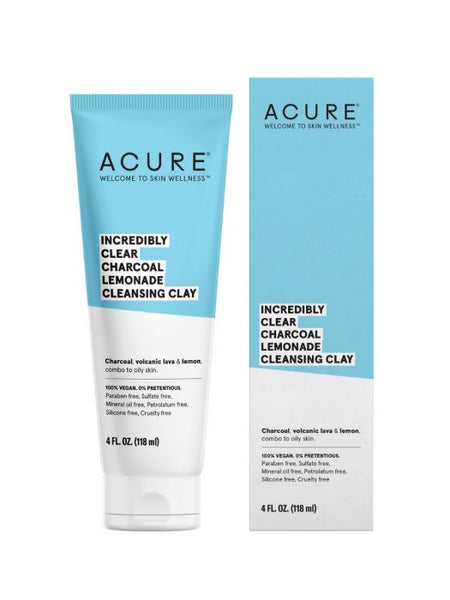 ACURE Argile nettoyante à la limonade et au charbon incroyablement claire / Incredibly clear charcoal lemonade cleansing clay