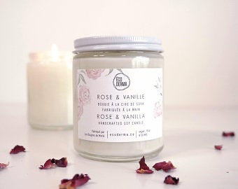 ÉCODERMA bougie Rose & vanille