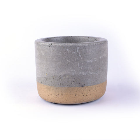 Cement Candle Holder with filled wax - Crank Furniture Co.