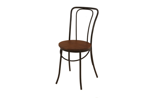 Industrial Metal Frame Bentwood Café & Dining Chair x 2 - Crank Furniture Co.