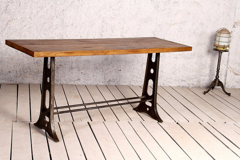 Schillers Communal Bar Table with Timber Top - Crank Furniture Co.