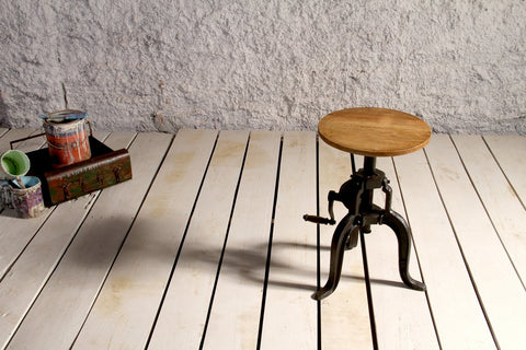 Industrial Crank Side Table - Crank Furniture Co.