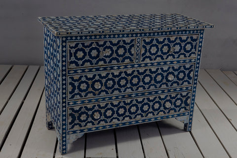 4 Drawer Mother of Pearl Storage Chest - Crank Furniture Co.