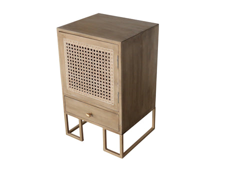 Bed Side Table With 1 Door And 1 Drawer - Crank Furniture Co.