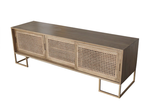 3 Door Entertainment Unit - Crank Furniture Co.
