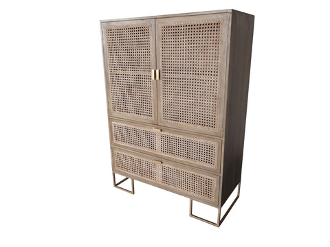 Storage Cabinet With 2 drawers And 2 Doors - Crank Furniture Co.