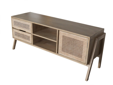 Entertainment Unit With 2 Drawers And 1 Door - Crank Furniture Co.