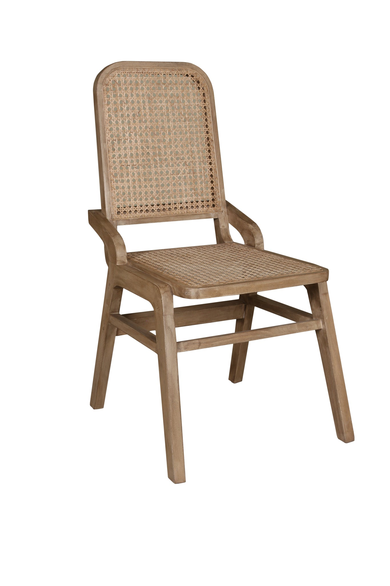 Wicker Cane Dining Chair