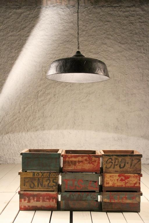 Hammered Indented Industrial Ceiling Light