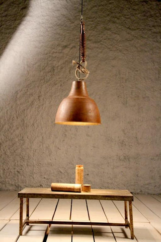 Industrial Cast Iron Copper Finish Ceiling Light (B) - Crank Furniture Co.