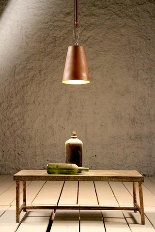 Industrial Cast Iron Cone Copper Finish Ceiling Light - Crank Furniture Co.