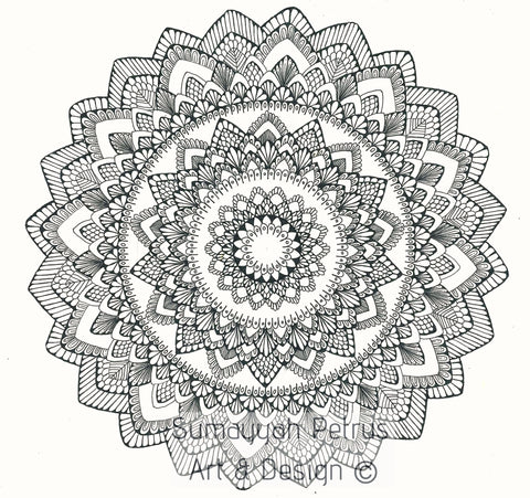 Set of 2 Color in Mandalas
