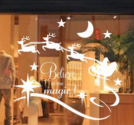 Vinyl Believe In The Magic - Reindeer Wall Stickers Home Decoration