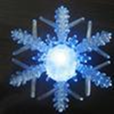 Snowflake - Color Changing LED Acrylic Snowflake Christmas Decoration Window Sucker