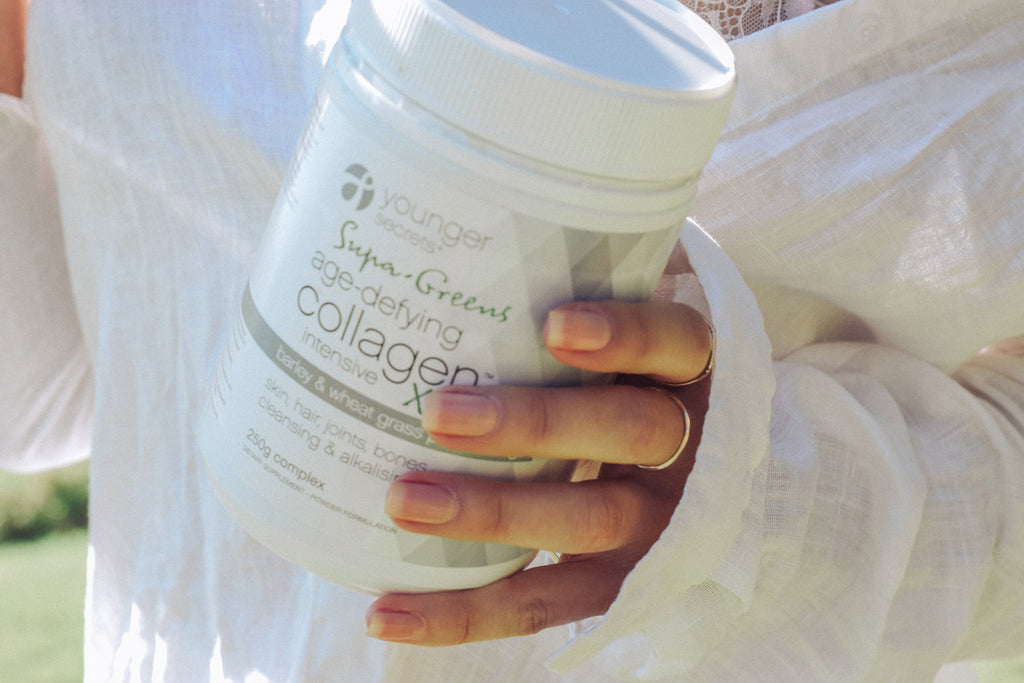 Supa-Green Age-Defying Collagen™ Intensive Xtra! & Age-Defying Collagen™ Intensive (Matcha, Vanilla, Cranberry or Taste Free) Pack.... Two months supply