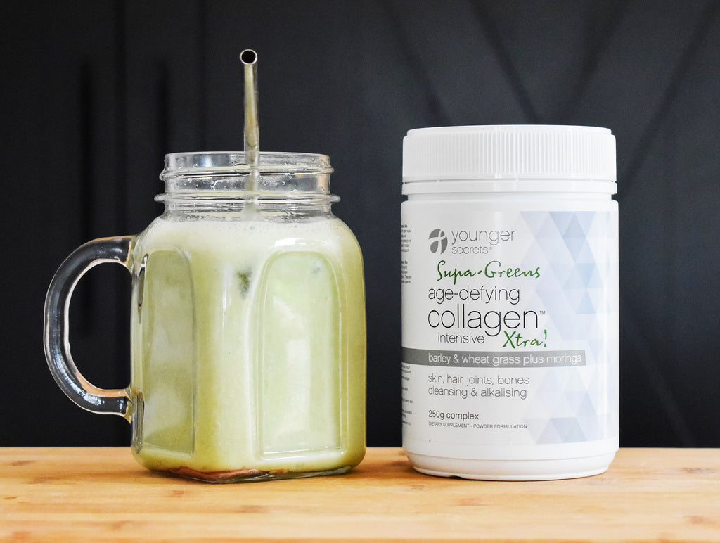 Stress Less Age-Defying Collagen™ Intensive Xtra! & Age-Defying Collagen™ Intensive (Matcha, Vanilla, Cranberry or Taste Free) Two months supply