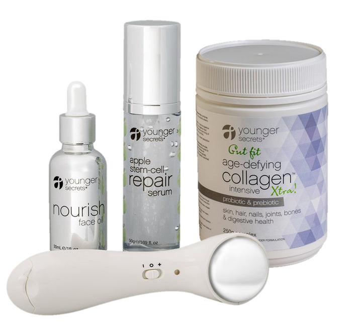 Gut fit age-defying collagen™ complete hydration repair pack