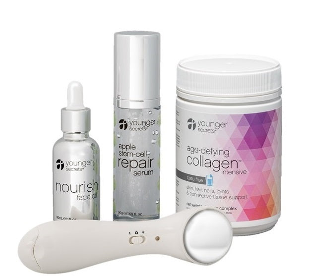 age-defying collagen™ complete hydration repair pack - 4 flavours (taste free, vanilla, cranberry, matcha)