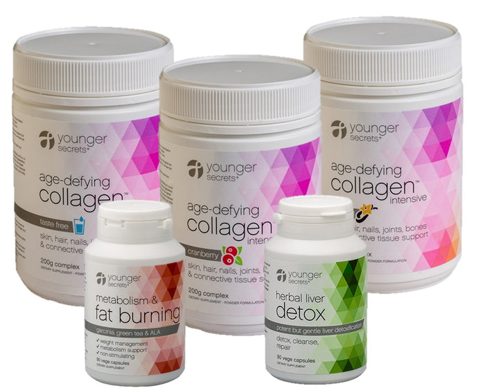 age-defying collagen™ summer ready pack - 3 flavours (taste free, vanilla, cranberry)
