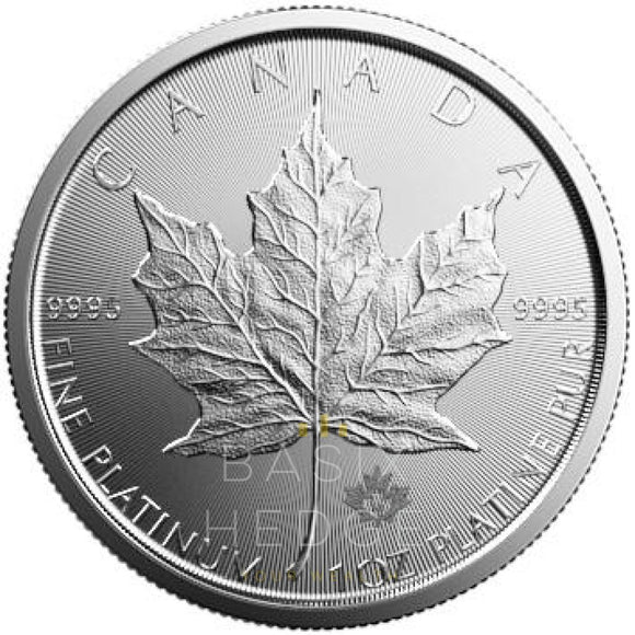 1 Oz Platina Maple Leaf (Mixed Years) Betalning: Wire Transfer Rabatt Mynt