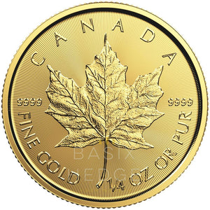 1 / 4 Oz Gold Maple Leaf (Dna Mixed Years) Betaling: Creditcard / Paypal Munt