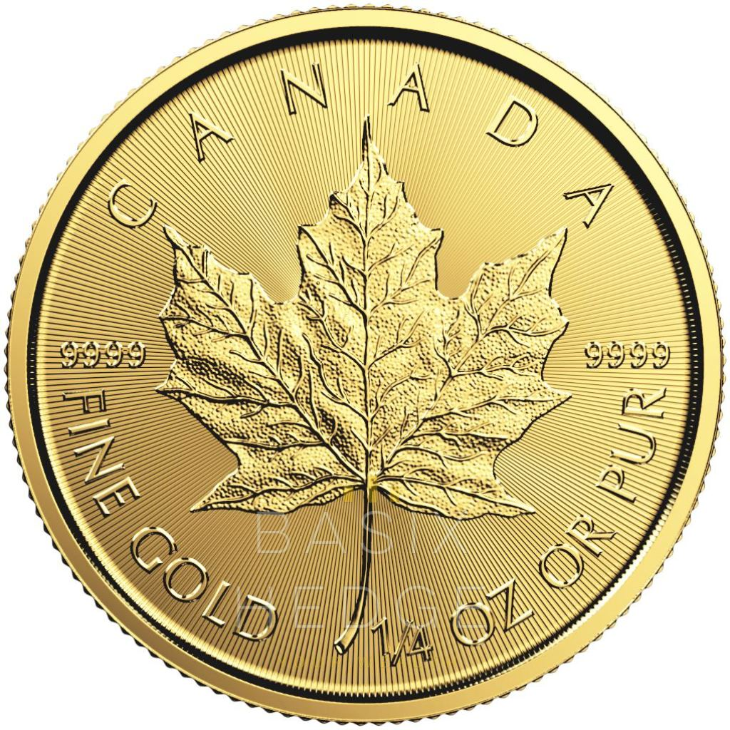 1 / 4 Oz Gold Maple Leaf (Dna Mixed Years) Betalning: Wire Transfer Rabatt Mynt