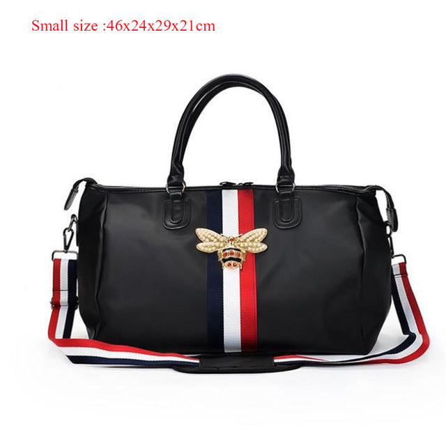 Fashion High Quality Men Travel Bag Nylon Waterproof New Bee Design Large Capacity Handbag Women Weekend Fitness Duffel Bag