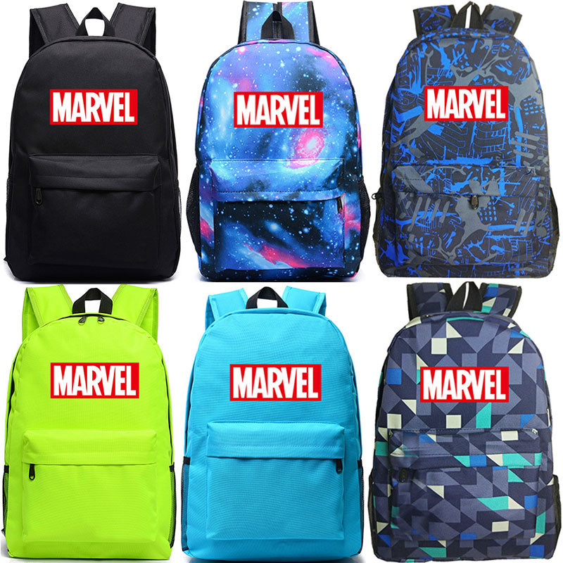 2018 Colorful Marvel Letter The Avengers Boy Girl School bag Women Bagpack Teenagers Schoolbags Canvas Men Student Backpacks