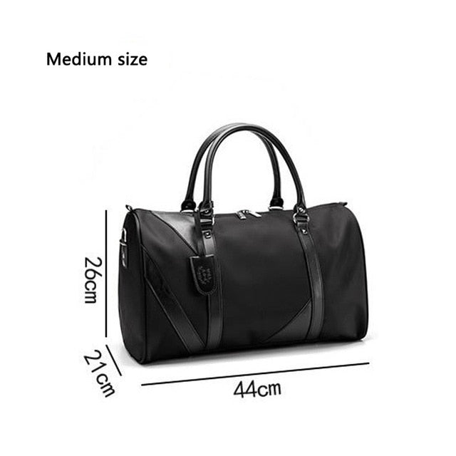 2019 New Casual Waterproof Nylon Men Travel Bags Overnight Duffel Bag Weekend Travel Large Tote Crossbody Travel Bags Wholesale
