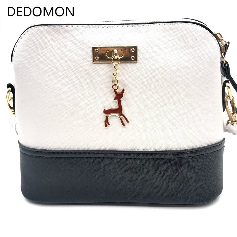 2019 Hot Women's Handbags Leather Fashion Small Shell Bag With Deer Toy Women Shoulder Bag Casual Crossbody Bag