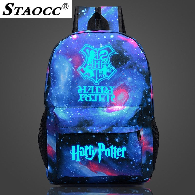 2019 Harry Potter Backpack Luminous Space Mochila Glowing School Bag For Teenage Girls Boys Waterproof Laptop Book Bag Sac A Dos