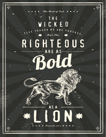 Advent Lion Poster
