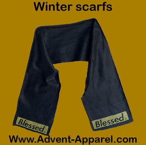 BLESSED SCARF BLACK/GOLD