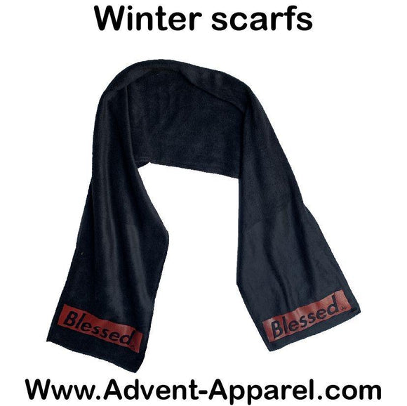 BLESSED SCARF BLACK/RED