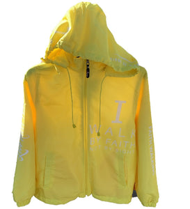 WINDBREAKER  YELLOW/WHITE (WALKING BY FAITH)