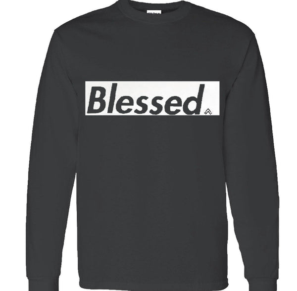 Black and WHITE Long Sleeve crew neck t-shirt
