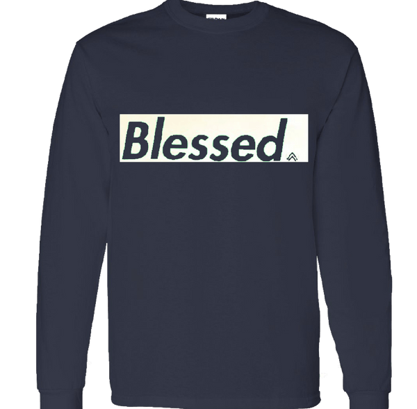 BLESSED NAVY/WHITE LONG SLEEVE