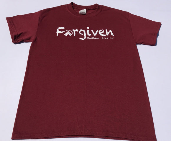 FORGIVEN Burgundy/White
