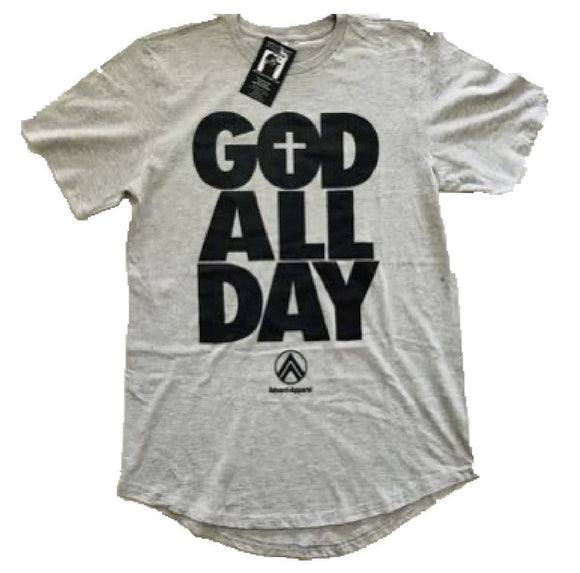 God All Day Grey/Black Scoop Tee