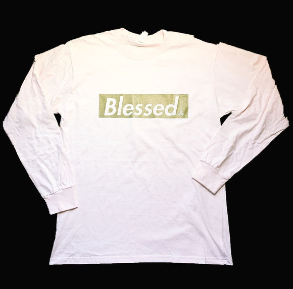 BLESSED LONG SLEEVE PINK & GOLD