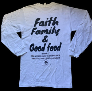 FAITH FAMILY GOOD FOOD WHITE/BLACK