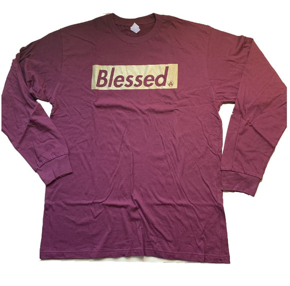 Burgundy/ Gold {Blessed}Long/Sleeve