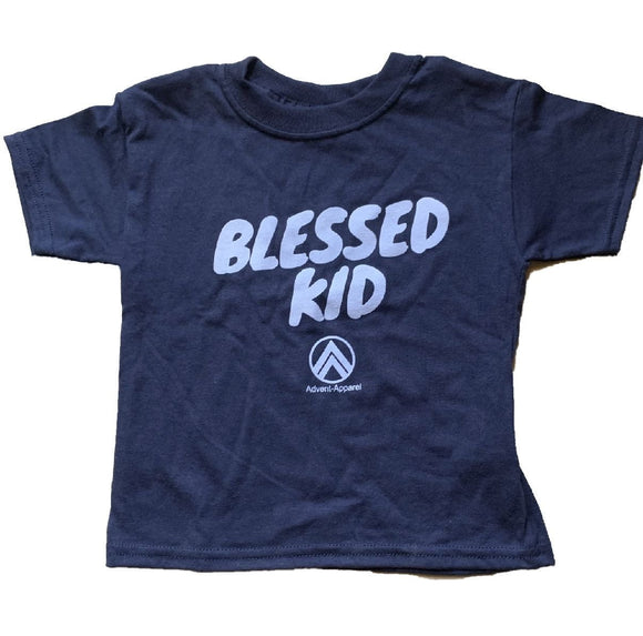 kids blue and white blessed kid